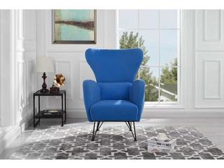 Sillon Individual Velvet Azul Minimalista