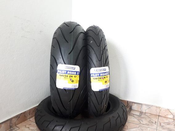 Kit Par Pneu Pilot Road 2 Michelin 120 190/50-17 Ducati1199