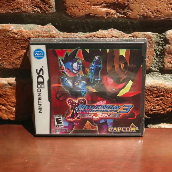 Mega Man Star Force 3 Red Joker Raro Novo Lacrado Original Americano Megaman Nintendo Ds 3ds