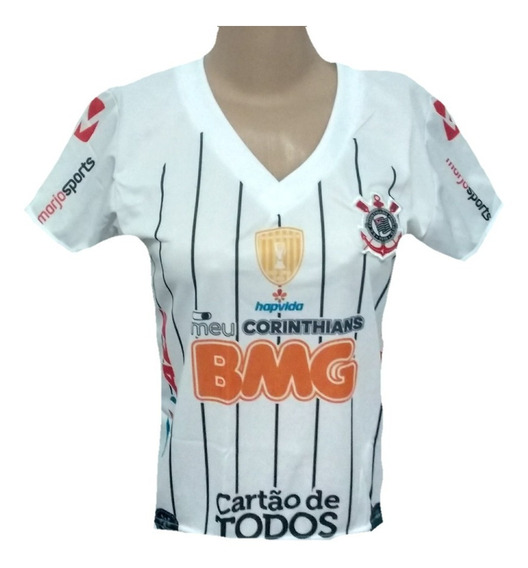 Mini Camiseta Baby Look Do Timão Mini Blusa Feminina Do Corinthians