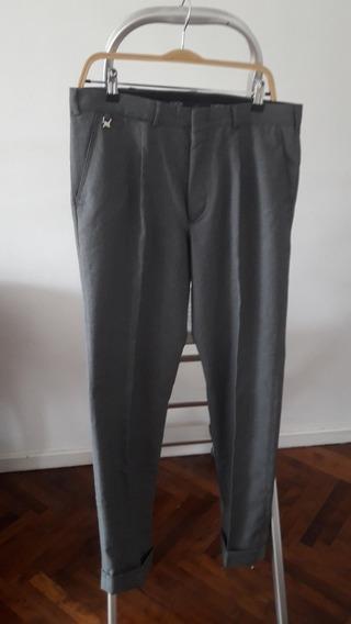 Pantalon Hombre Vestir Toche Gris Dior Polo Traje