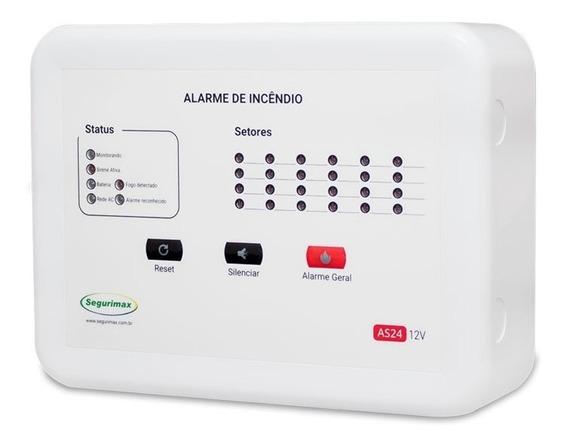 Central De Alarme De Incêndio 24 Setores C/bateria Segurimax