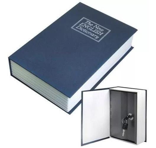 Cofre Camuflado Forma De Livro Dicionário Com Chave