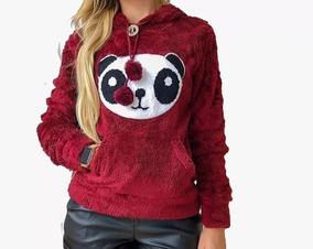 Blusa De Frio Pelinho Pelucia Panda Feminina Barata