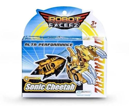 Imagem 1 de 2 de Robot Racerz Sonic Cheetah De Fricção Br860 Multikids