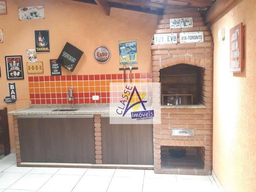 Imagem 1 de 29 de Sobrado Com 3 Dormitórios À Venda, 142 M² Por R$ 623.000 - Campestre - Santo André/sp - So0183
