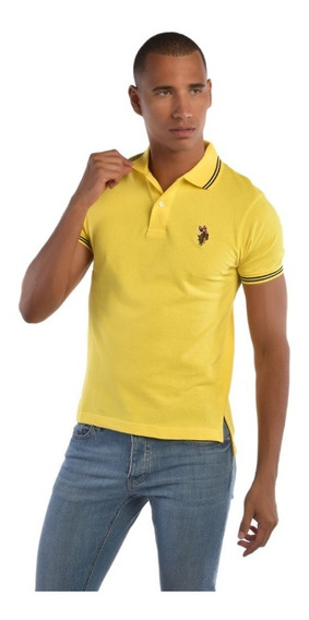 Polo Custome Fit U.s. Polo Multicolor Uslpm447316 Hombre
