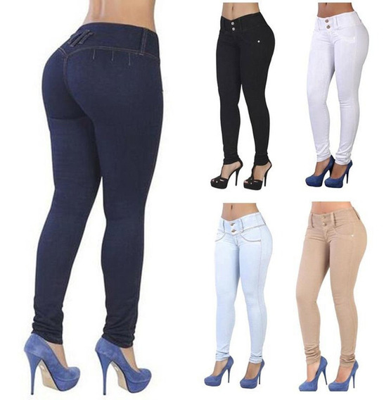 Jean Levanta Cola Stretch Todas Tallas Incluye Gorditas