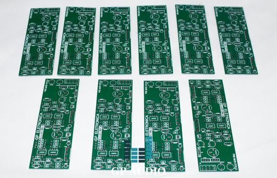 Kit 10 Placas Lisas De Pré Amplificador Balanceada