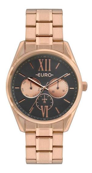 Relógio Feminino Euro Construções Rosé - Original