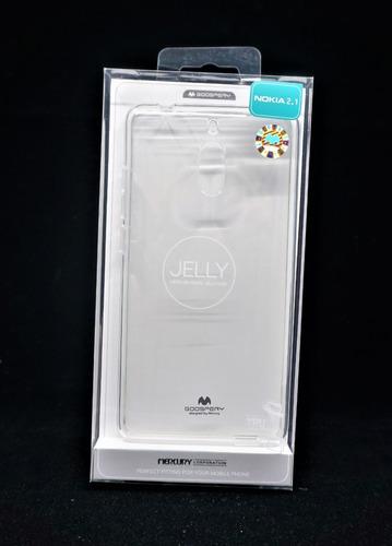 Funda Nokia 2.1 Goospery Transparente Jelly Case