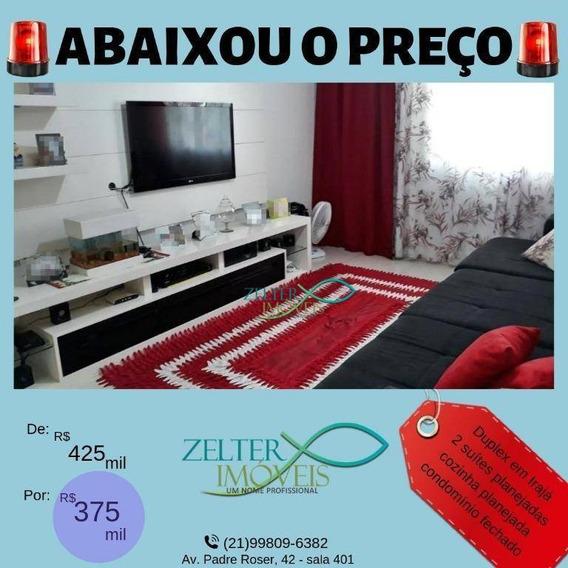 R$ 375mil - Excelente Casa Duplex Em Irajá - 2 Qtos - 2 Suítes - Terraço - Churrasqueira - Vaga De Garagem - Sem Condomínio - 88 M² - Ca0315