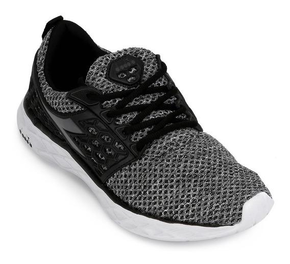 Zapatillas Diadora React M Gris Running Gym Envíos