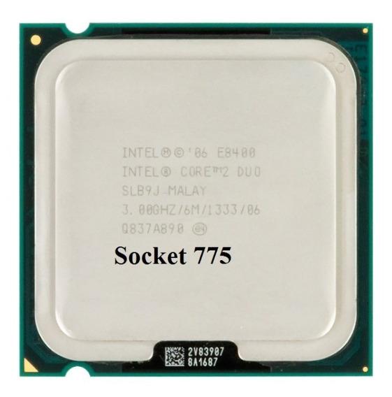 Intel Core2 Duo Processor E8400 - Semi Novo + Cooler + Pasta