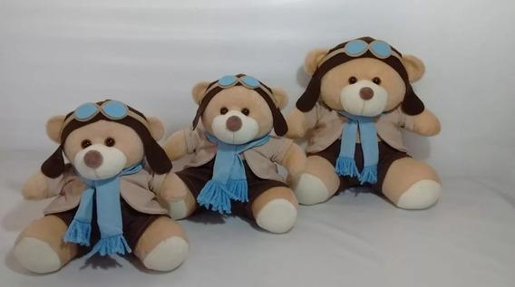 Trio De Ursinhos Para Nichos 15cm 20cm 25cm - Aviador Bebê