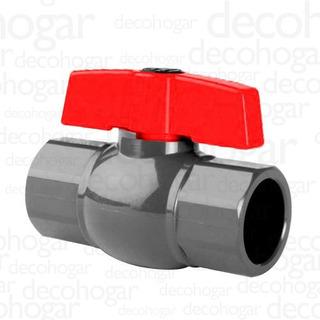 Válvula Esférica Agua Riego Plastica De Pvc 1