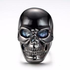 Anel Caveira Crânio Punk Rock Gótico Liga De Aluminio
