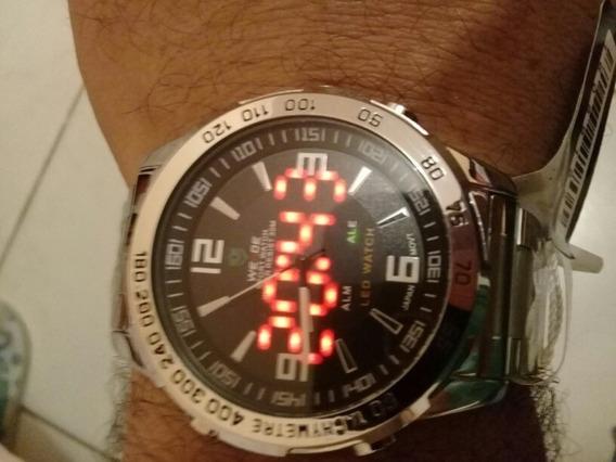 Relógio Masculino Weide Anadigi Display Led