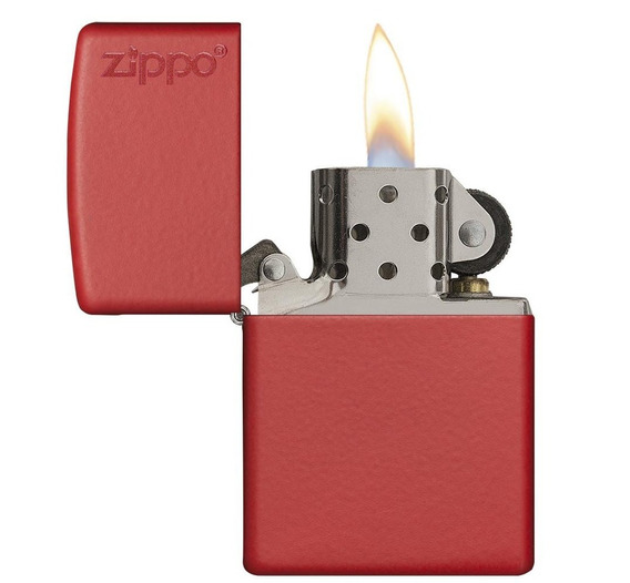 Encendedor Zippo Regular Red Matte Made In Usa N° 28057