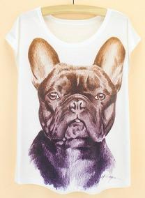 Blusinha Bulldog Françês - Linda
