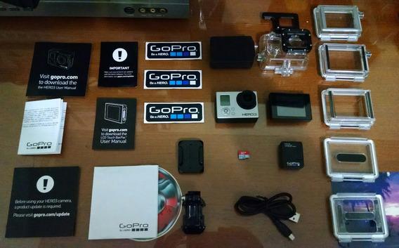 Gopro Hero3 Silver /sd16gb Suporte Cabeça Outros Acessórios