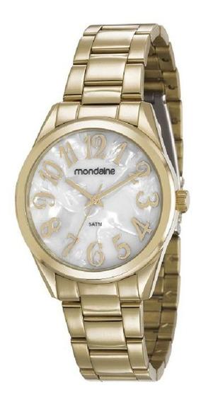 Relógio Mondaine Dourado Com Madreperola 83432lpmvde1 Garantia E Nota Fiscal
