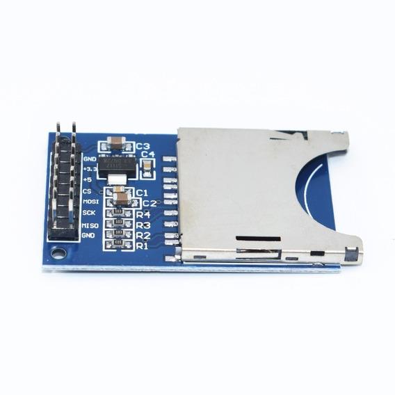 Shield Sd Card Arduino Pic Modulo Leitor Cartão