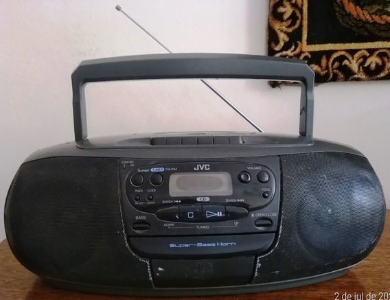 Radio Toca Fitas Jvc Rc-qs11 Cd Com Defeito