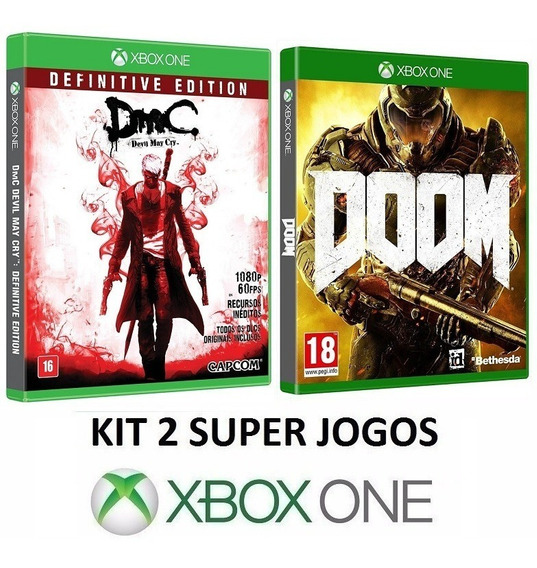 Dmc Devil May Cry + Doom - Midia Fisica Lacrado - Xbox One