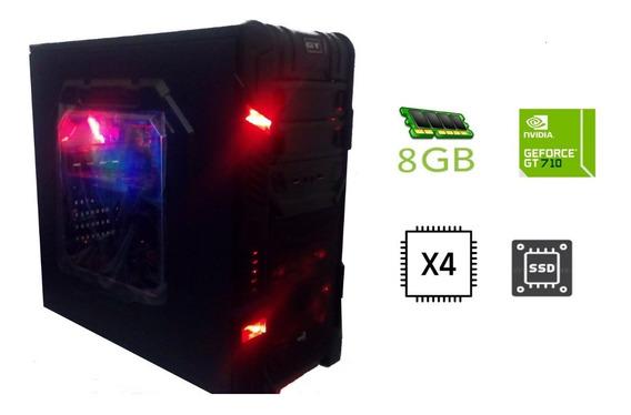 Cpu Gamer Quad Core 8 Gb Ram Ssd 240gb Geforce 710 Promoção!