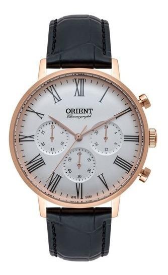 Relógio Orient Masculino Cronógrafo Rose Mrscc021 S3px
