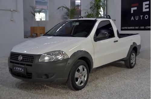 Fiat Strada Working 1.4 8v Con Gnc 2013 Color Blanco