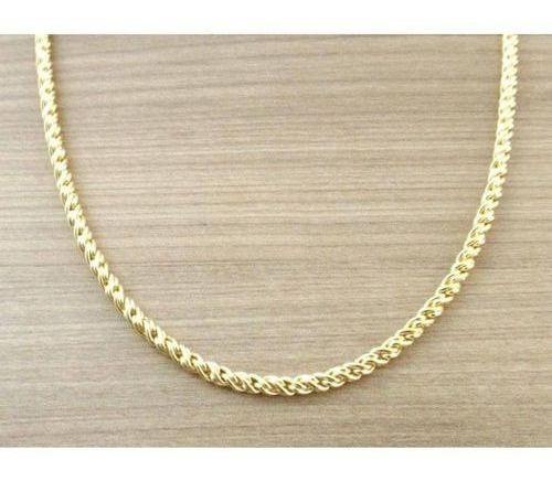 Corrente Cordão Unissex 60cm 3,5mm Ouro
