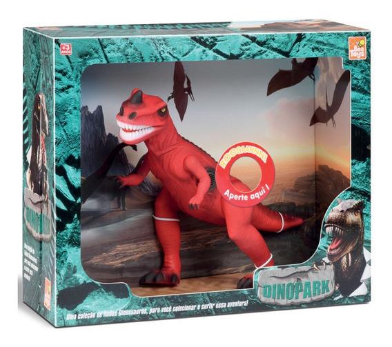 Dinossauro T - Rex Emite Som - Brinquedo Criança - Vermelho