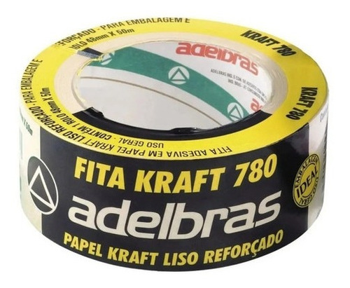 Fita Para Empacotamento 48x50 Kraft 780 Pardo Adelbras