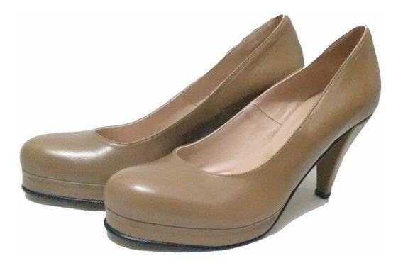 Zapato Stiletto Base Cuero Carlo Conti