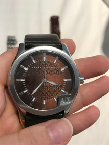 Relógio De Pulso Masculino Armani Exchange Pulseira Couro