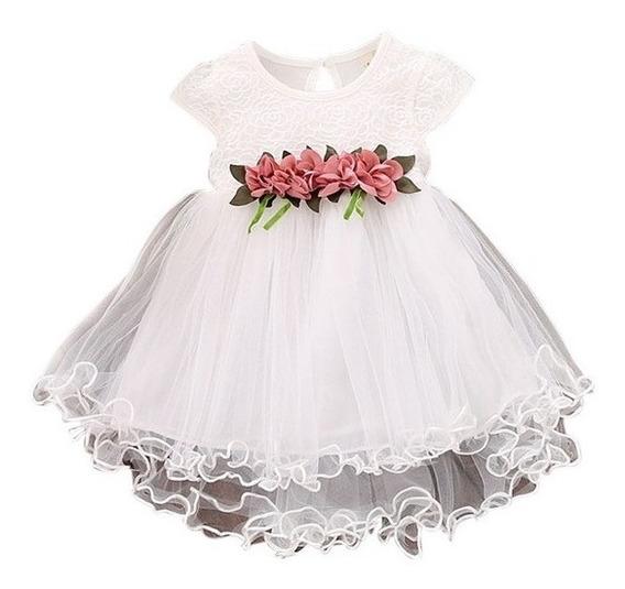 Vestido Infantil Festa Batizado Bebe Casamento Aniversário