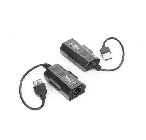 Imagen 1 de 6 de Kit Extensor Usb Por Cable Utp5/5e/6 Distancias De Hasta 50m
