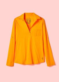 Camisa Cantão Confort Mg Longa Amarelo Com Tag Tam G