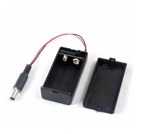 Caixa De Bateria 9v Chave Liga/desliga C/ Conector 5.5x2.1mm