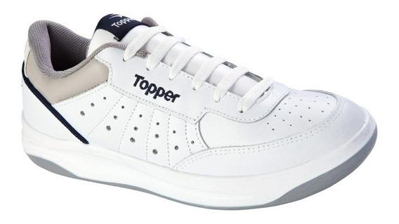 Zapatillas Topper X Forcer 3 Blanca/azu/gri De Hombre