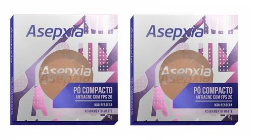 Imagem 1 de 2 de Kit 2 Asepxia Pó Compacto Antiacne Fps20 Bege Médio  - 10g