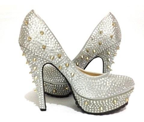 Sapato Feminino Importado Salto Alto Festa - A 007