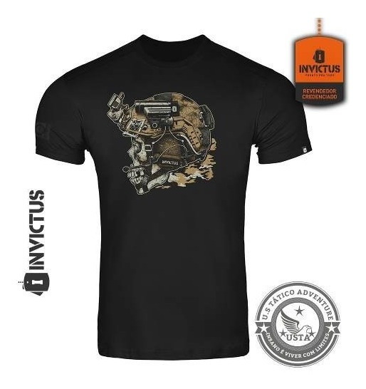 Camiseta T-shirt Concept Invictus Blackjack Original Algodão