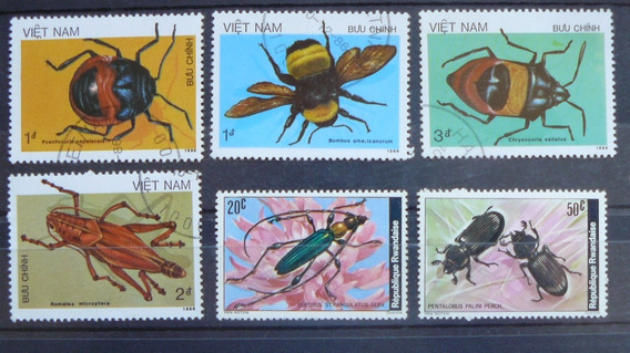 Estampillas De Insectos De Vietnam