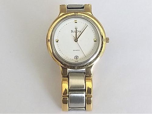 Relógio Bulova Suiço  Misto Day 1721 T T W D Espes. 6 Mm