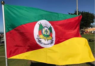 Bandeira Oficial Do Rio Grande Do Sul Med. 0,90m X 1,28m