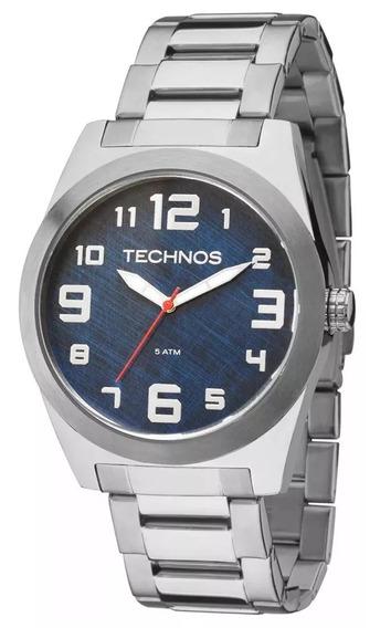 Relógio Technos Prateado Masculino Militar 2035mfl/1a Barato