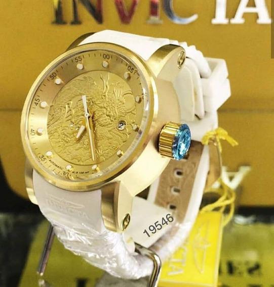Relógio Invicta Yakuza Automatico Puls Branca 19546